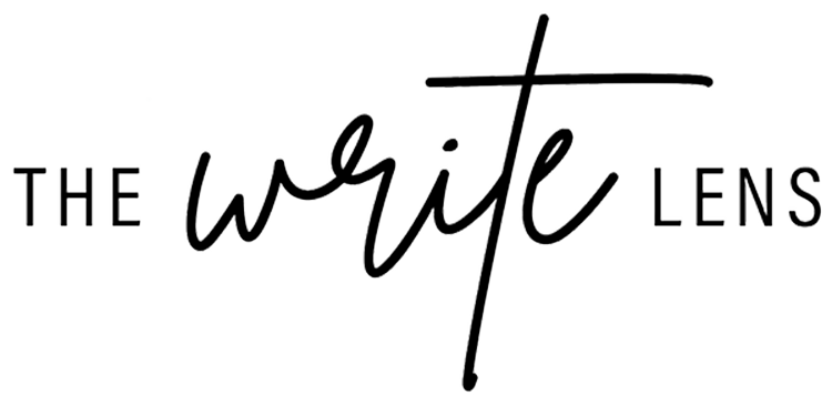 Logo for The Write Lens and Erica Comitalo, Copywriter for Photographers