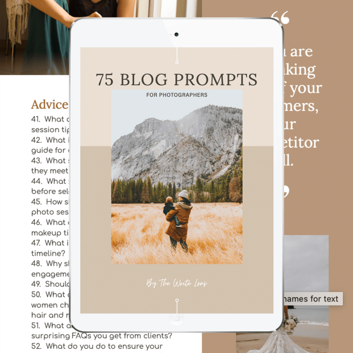 75 Blog Prompts for Photographers