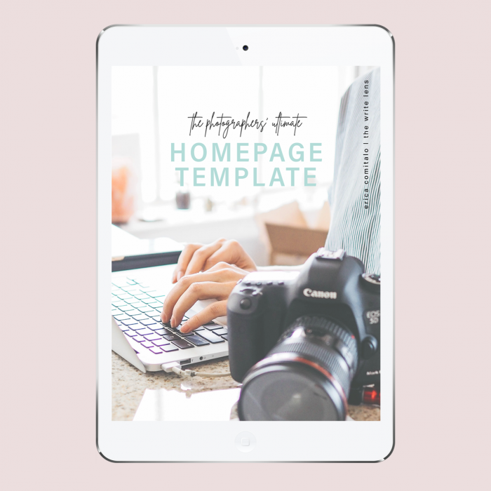 The Photographers' Ultimate Homepage Template