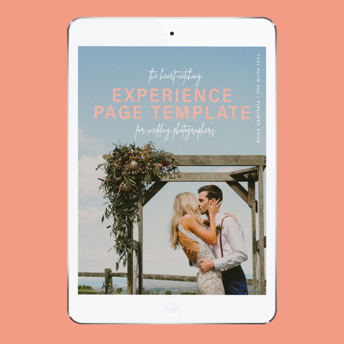 The Experience Page Template for Wedding Photographers
