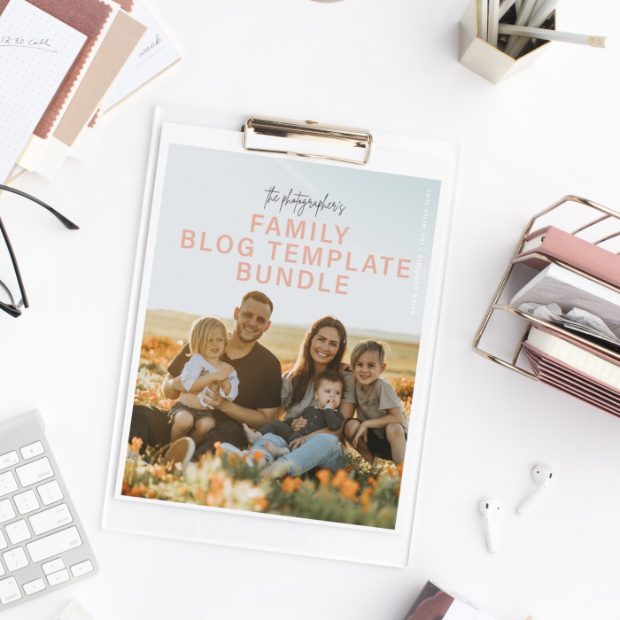 The Family Photographer Blog Template Bundle