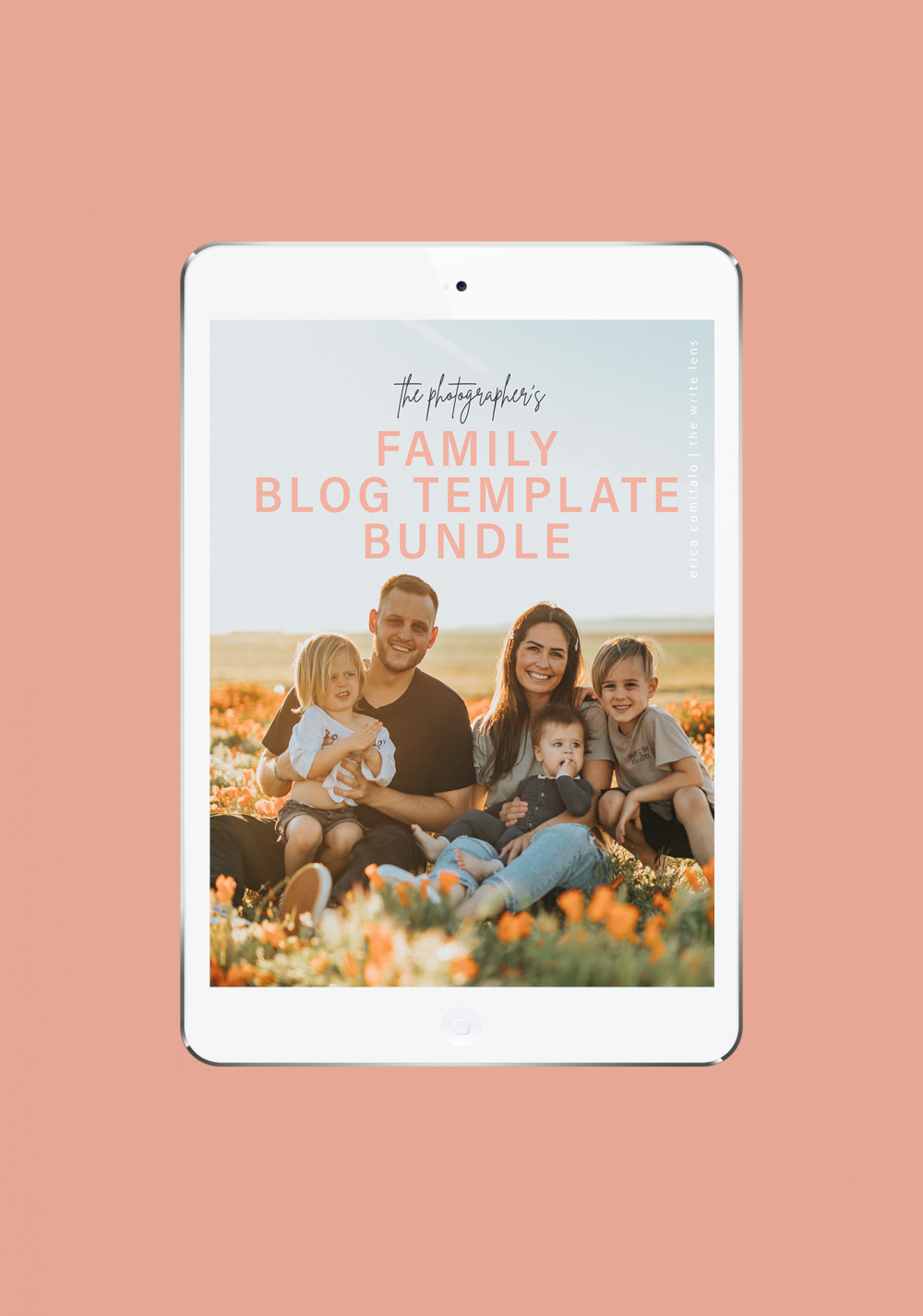 Family blog template bundle promo image