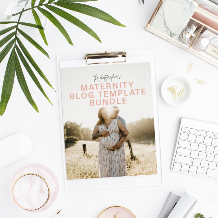 The Maternity Photographer Blog Template Bundle