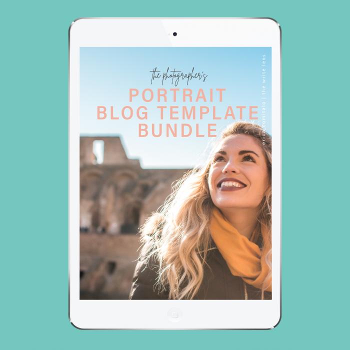 The Portrait Photographer Blog Template Bundle