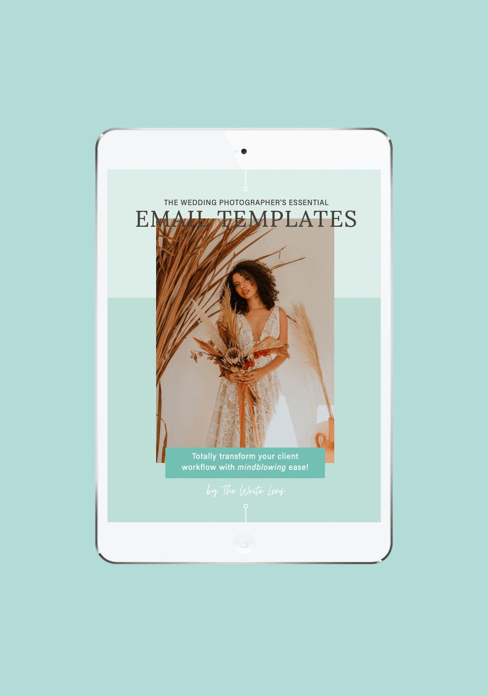 Cover of the wedding photographer email template bundle