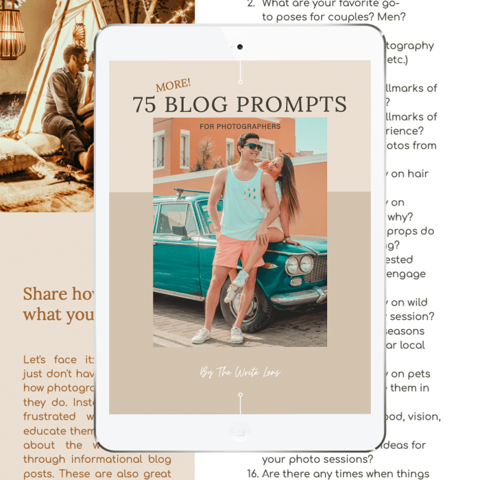 75 MORE Blog Prompts for Photographers