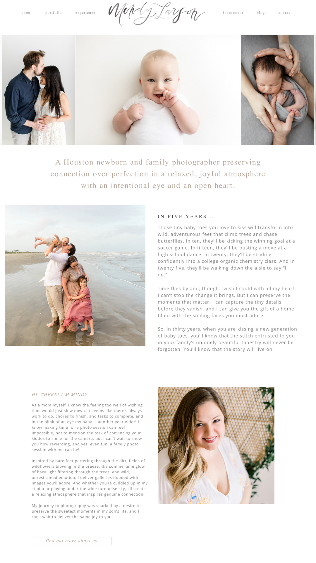 Mindy Larson Photography copywriting for photographers client of The Write Lens