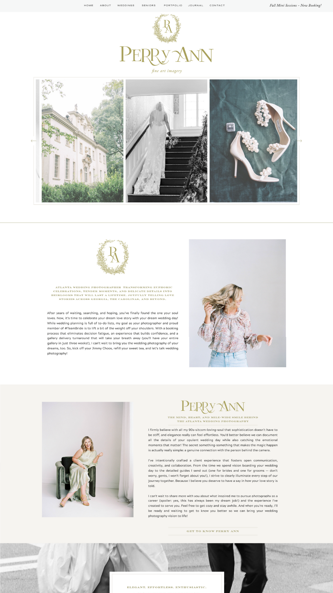 Perry Ann Photography copywriting for photographers client of The Write Lens